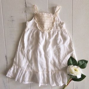 Cream Lightweight Summer Dress Lace Bodice